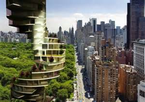 spiraling stairscraper provides a garden for every