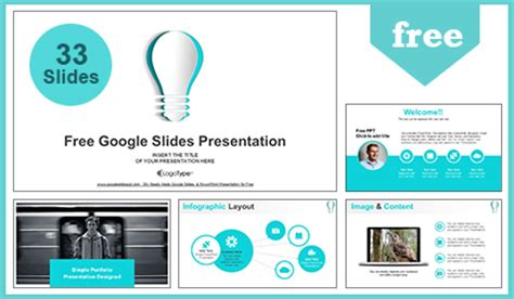 one slide presentation template abstract paper idea bulb slides presentation