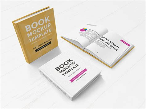 hardcover book with camera mockup mockupworld