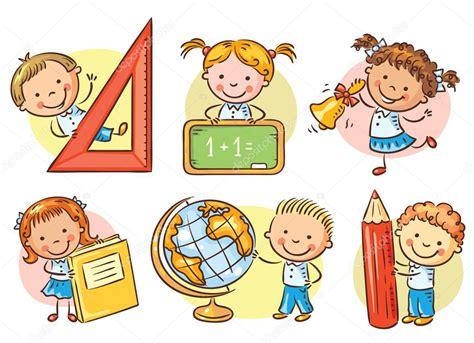 imagenes animadas escuela conjunto de ni 241 os de la escuela de dibujos animados