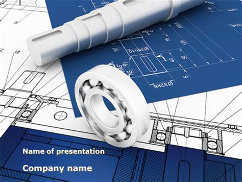 Engineering Drawing Powerpoint Template Backgrounds 08114 Poweredtemplate Com Engineering Drawing Ppt