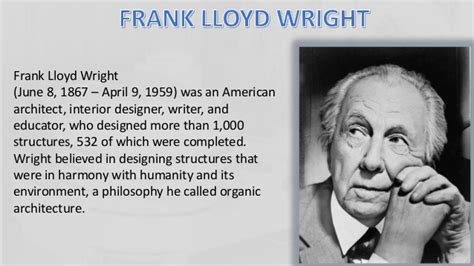 frank lloyd wright biography ppt frank lloyd wright