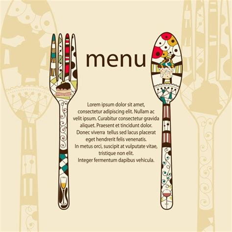 menu cover template restaurant menus design cover template vector 05 free