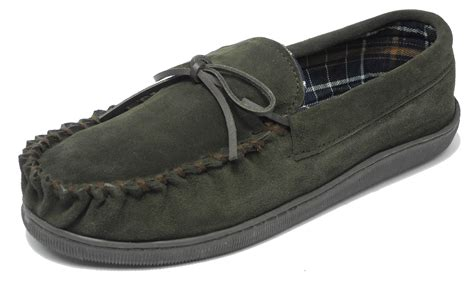 Sleeper For Mens Mens Sleepers Real Suede Wide Fit Leather Moccasin