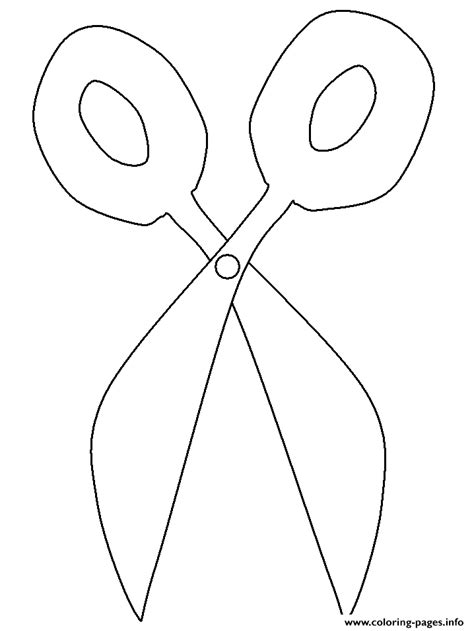 school scissors coloring pages printable