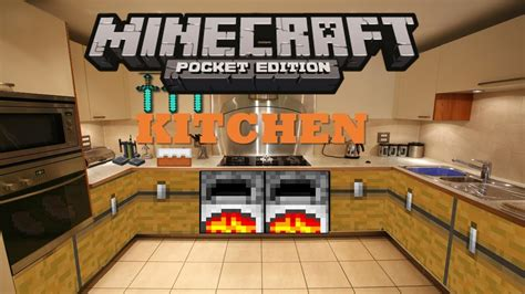 minecraft kitchen furniture minecraft pocket edition build tutorials episode 2