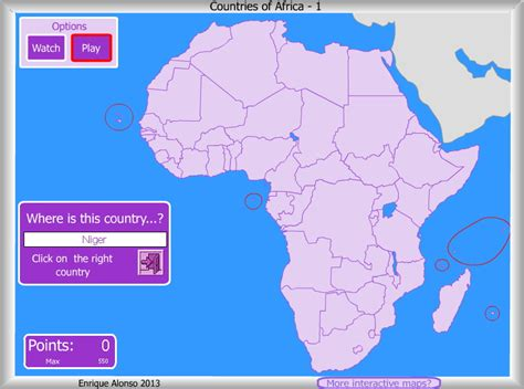 africa map interactive interactive map of africa
