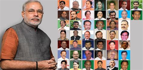 Nda Cabinet Ministers by Narendra Modi Swearing In The Cabinet Of 45