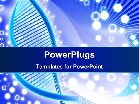 dna powerpoint templates free powerpoint template a dna structure with white circles in