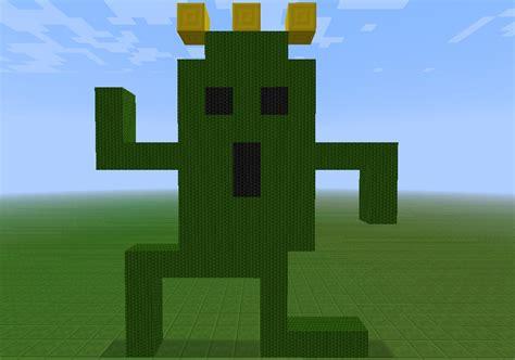 cactuar pixel art final fantasy minecraft project