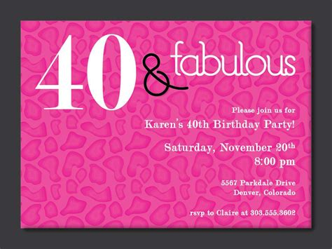 Happy Birthday Invites Template by 40th Birthday Free Printable Invitation Template