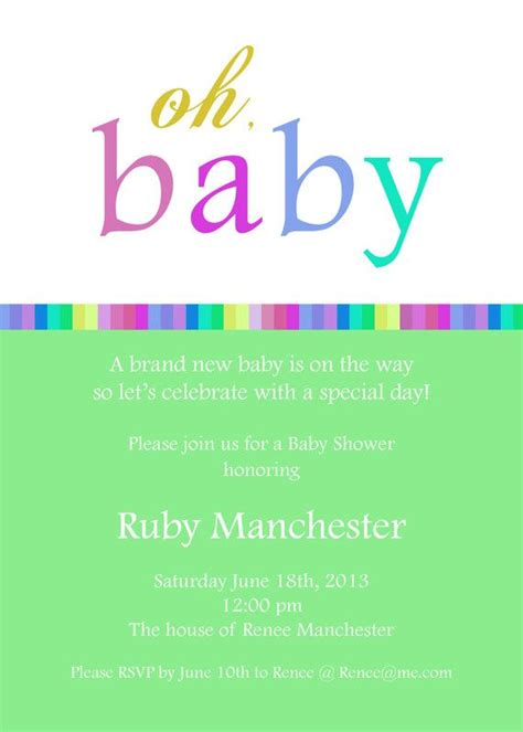 Do It Yourself Baby Shower Invitations by Do It Yourself Baby Shower Invitations 3 Baby Shower