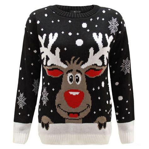 black pattern christmas jumper c3008 bk men christmas jumper with elf pattern black