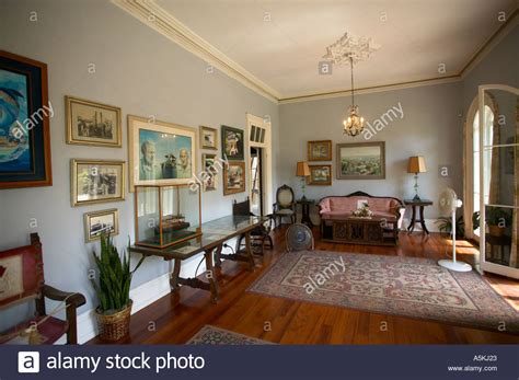 ernest hemingway house ernest hemingway house interior key west florida usa stock