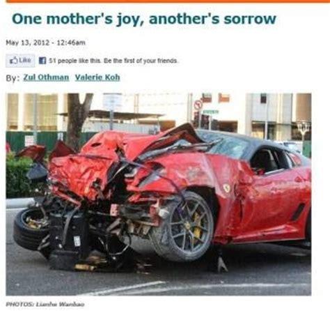 Megafactories Ferrari 599 by Car Crash Ferrari Car Crash In Singapore