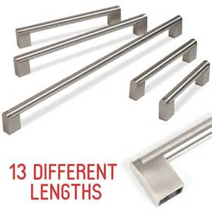 Door Handles Kitchen Cabinets Kitchen Cupboard Cabinet Bar Door Handle Brushed Stainless Steel 128 909mm Ebay