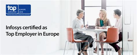 best employer infosys certified as top employer in europe