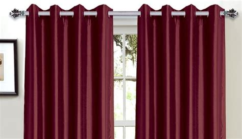 Bella Luna Faux Silk Foam Back Blackout Curtains Only 21