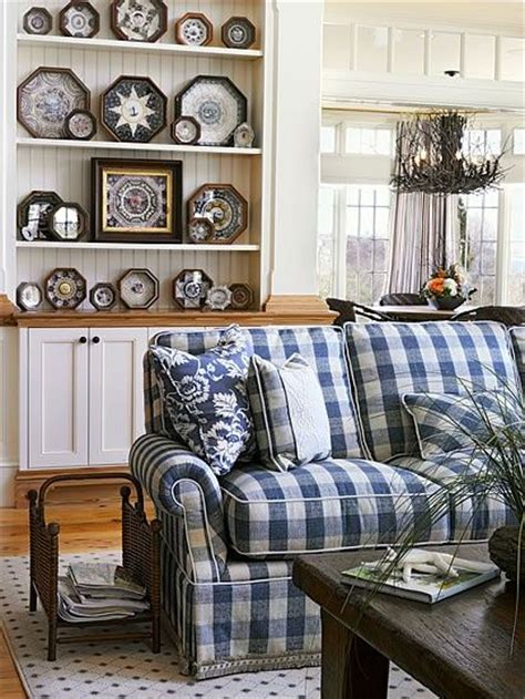 blue and white couch 1000 ideas about plaid couch on pinterest couch pillows