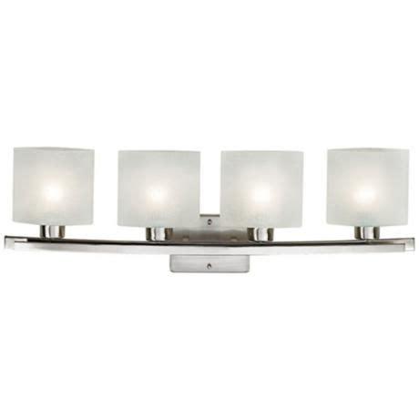 White Bathroom Light Fixtures Possini White Linen Glass 32 Quot Wide Bathroom Light Fixture