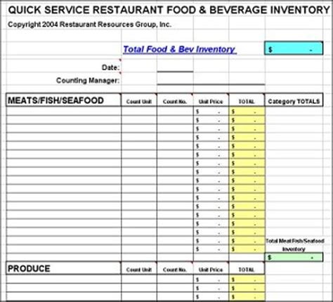 Free Restaurant Inventory Spreadsheet by Best Photos Of Restaurant Inventory Template Excel