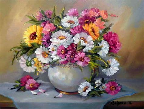 floreros oleo im 225 genes arte pinturas bodeg 243 n con jarrones de flores