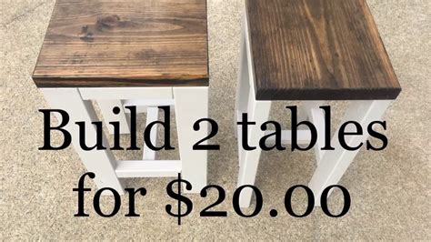 How To Fix A Table L by Diy How To Make 2 Tables For 20 00 Living Room End