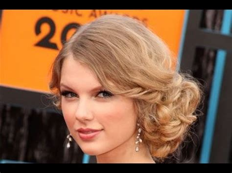 how to comb a bun with side swept bangs taylor swift side swept bun hair tutorial youtube