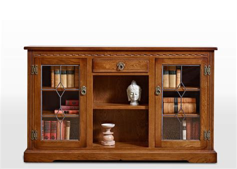 Low Bookcases With Doors Charm Low Bookcase With Leadlight Doors Wood Bros