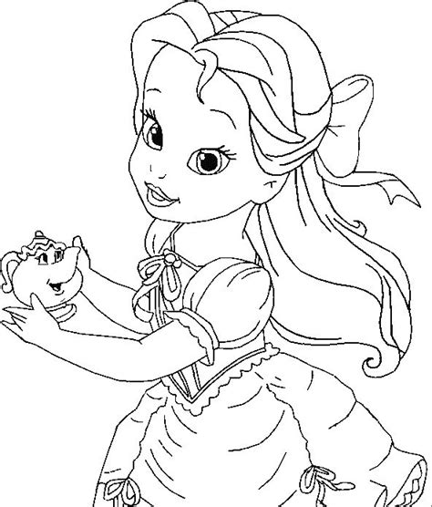 Printable Belle Coloring Pages Coloring Me Bell Princess Coloring Pages Free Coloring Sheets