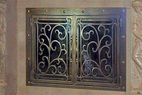 Iron Fireplace Doors by Forged Iron Fireplace Doors Fd034 From Mantel Depot