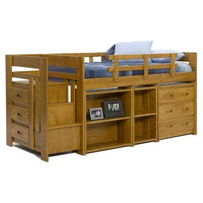 Low Bunk Beds With Storage Low Loft Bed With Storage