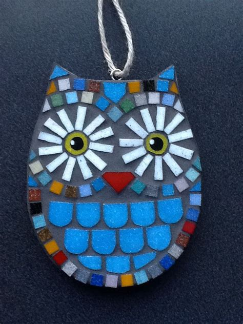 mosaic pattern in eye lorraineudellmosaics bright round mosaic owl wide eyes