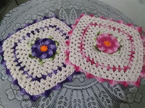 capa de almofada de barbante capa de almofada croch 234 flor bergamota crocheteria da