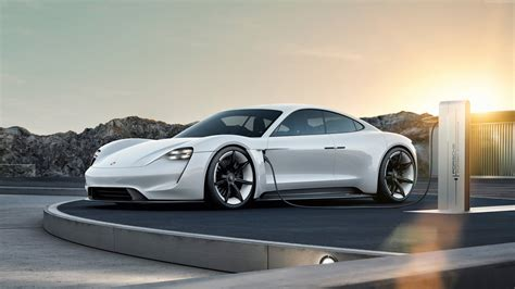 electric porsche supercar porsche taycan electric car supercar 2020 wallpaper