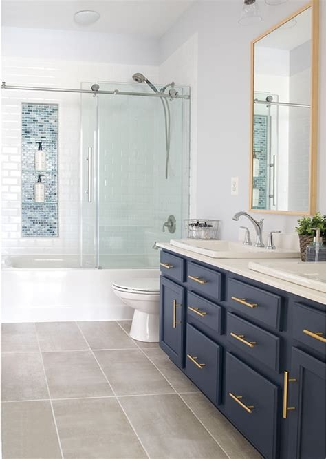 Modern Classic Bathroom by Modern Classic Guest Bathroom Makeover Reveal
