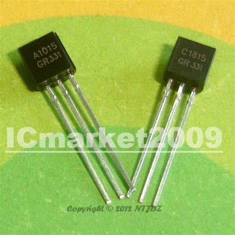 a1015 c1815 transistor 100 pair 2sa1015gr 2sc1815gr to 92 a1015 c1815 100 2sa1015 100 2sc1815 switching transistors