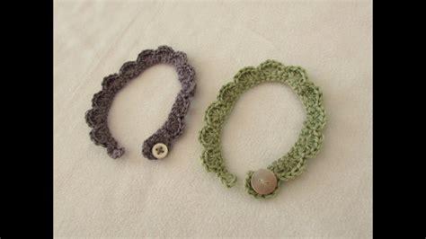 crochet dainty shell stitch bracelets  beginners youtube