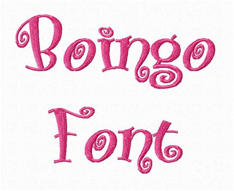 typography embroidery boingo machine embroidery font