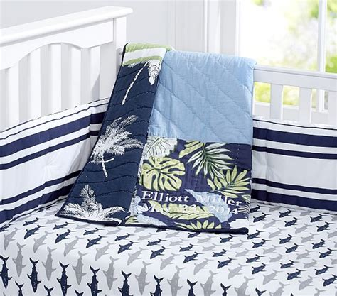 Surfboard Crib Bedding Surf Patch Nursery Bedding Set Pottery Barn
