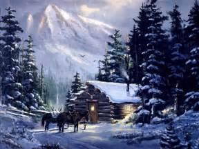 mountain log cabins in snow mountain cabin