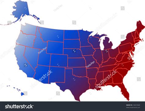 map showing states of usa vector clip map usa all stock vector 18457600