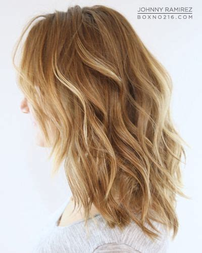 hairstyles for medium length dirty hair natural blonde ombre medium length hair wavy highlights