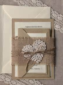 lace and burlap wedding invitations 45 chic rustic burlap lace wedding ideas and inspiration