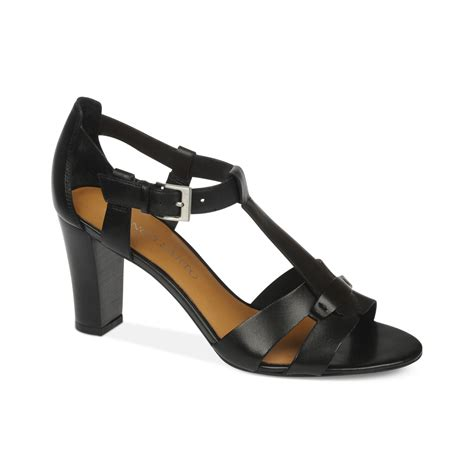 franco sarto black sandals franco sarto giada sandals in black lyst