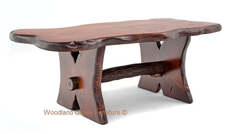 log coffee table rustic log trestle cocktail table wood coffee
