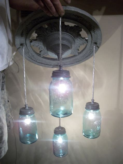 plug in porch light mason jar light blue ball plug in swag style perfect for