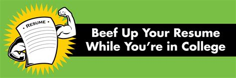 beef up your resume while in college student health and