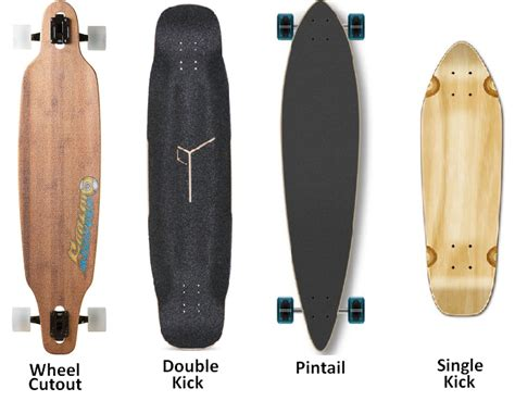 longboard decks types different types longboards different types