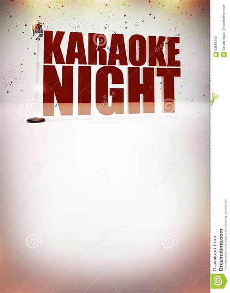 Karaoke Music Poster Stock Photography   Image: 33565152